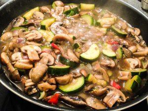 Rezept vegane Pilzpfanne (7:21 Tage Stoffwechselkur)