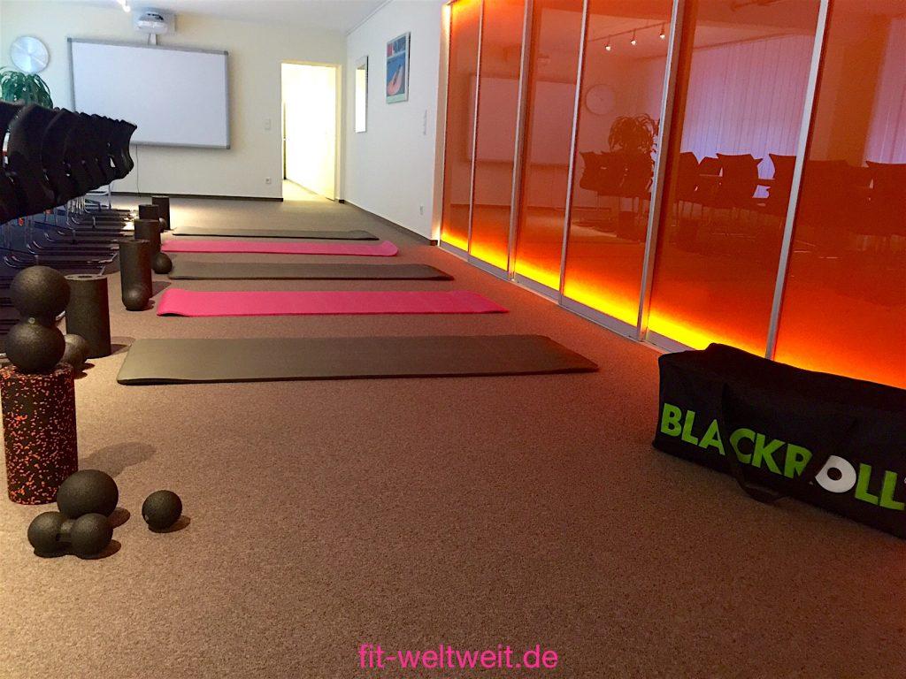 """Blackroll Fazientraining im Büro. ... wie man den Massage Ball und die BLACKROLL Faszien Minirolle oder die Medi Rolle denn anwenden kann, damit die Schmerzen im Büro geringer werden können. Ich habe dir ein YouTube Video von einem Liebscher & Bracht Ganzkörper-Faszientraining gedreht. Special: 15% Rabatt mit dem Gutscheincode """"fitwelt..."""