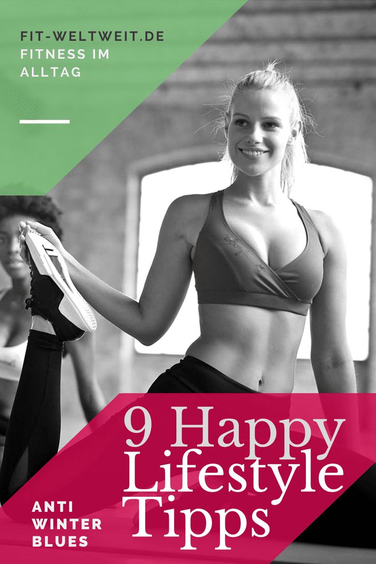 Zusammenfassend nochmal alle 9FitnessTipps für einenHappy Lifestyleauf einem Blick: Fitness: Ausschlafen als Energie-Booster im Winter. Gönne dir einen Tag in der Woche, an dem du richtig ausschläfst. Motivation: Ziele und Aufgaben geben Motivation im Alltag. Stecke dir feste Ziele und Aufgaben mit Datum und erledige sie fristgerecht. Das gibt dir Selbstvertrauen, Zuversicht und Selbstbewusstein. #Happy #Fitness #Alltag #Tipps