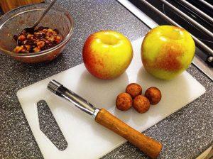 Zutaten für einen Bratapfel
