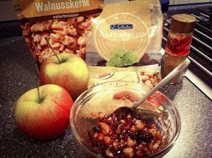 Zutaten für ein klassisches Marzipan Bratapfel Rezept