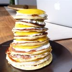 Der fertige Protein Pancake Tower sieht dann so aus. Muskelaufbau Fitnesstipps und Geheimnisse. Schnell, Trainingsplan, Tipps, richtige Übungen, Wiederholung, Anatomie, Supplements und Ernährung Frauen ...