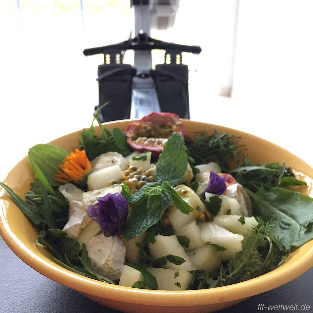 Protein Detox Salat mit Melone und Minze
