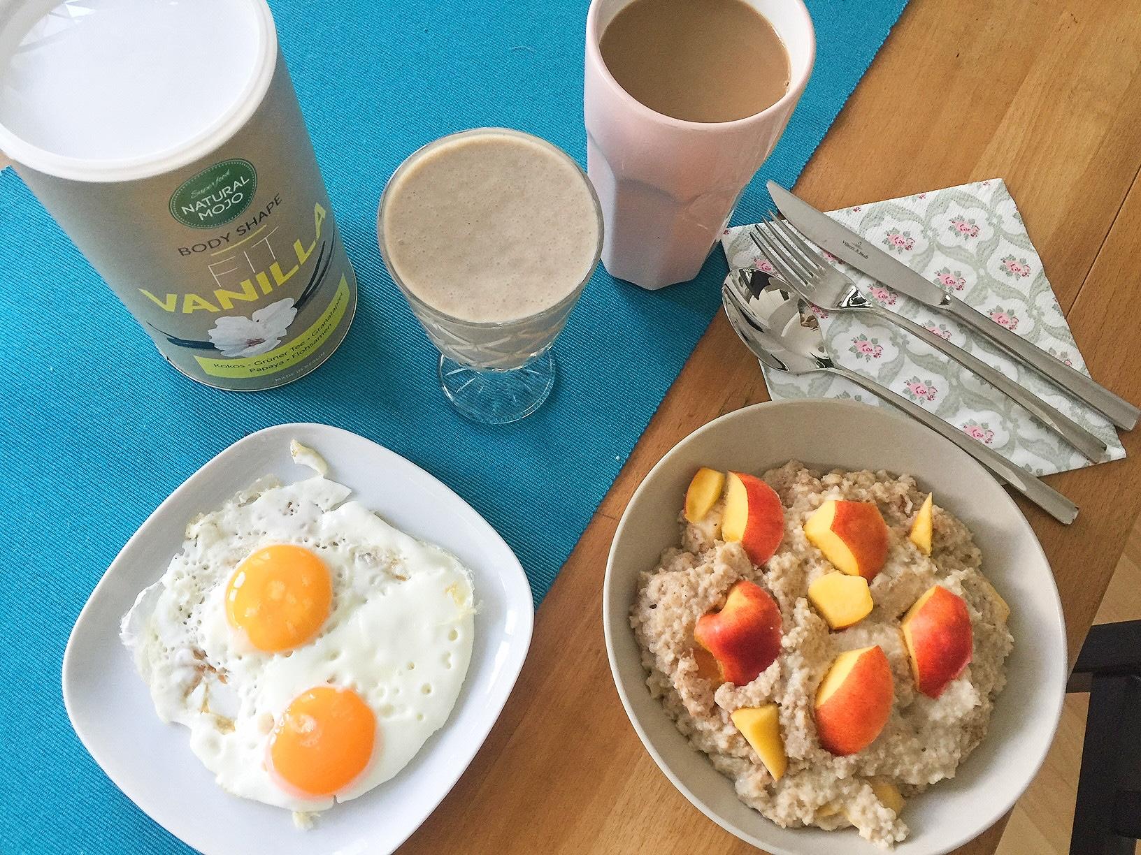 Leckeres Natural Mojo Fitness Frühstück (Fit Vanille)