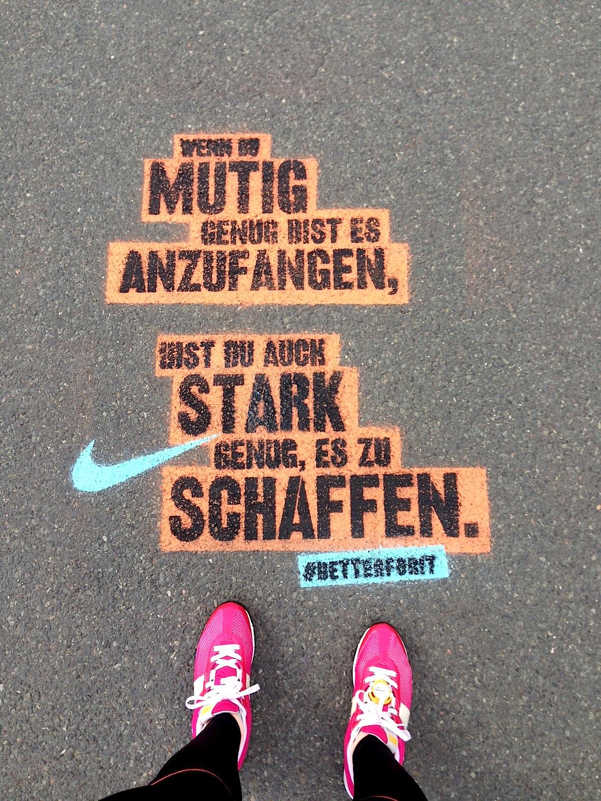 running sprüche Fitness: BETTER FOR IT   women NIKE 21 Tage Challenge   fit  running sprüche