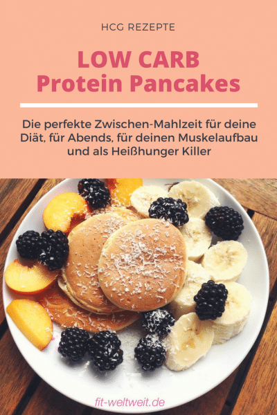 hcg LOW CARB Protein Pancakes Rezept