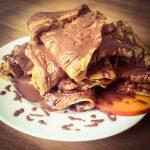 Rezept: Lebkuchen Protein Pancakes mit Schokoglasur
