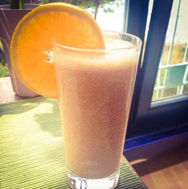 Lecker frozen Orangen Smoothie