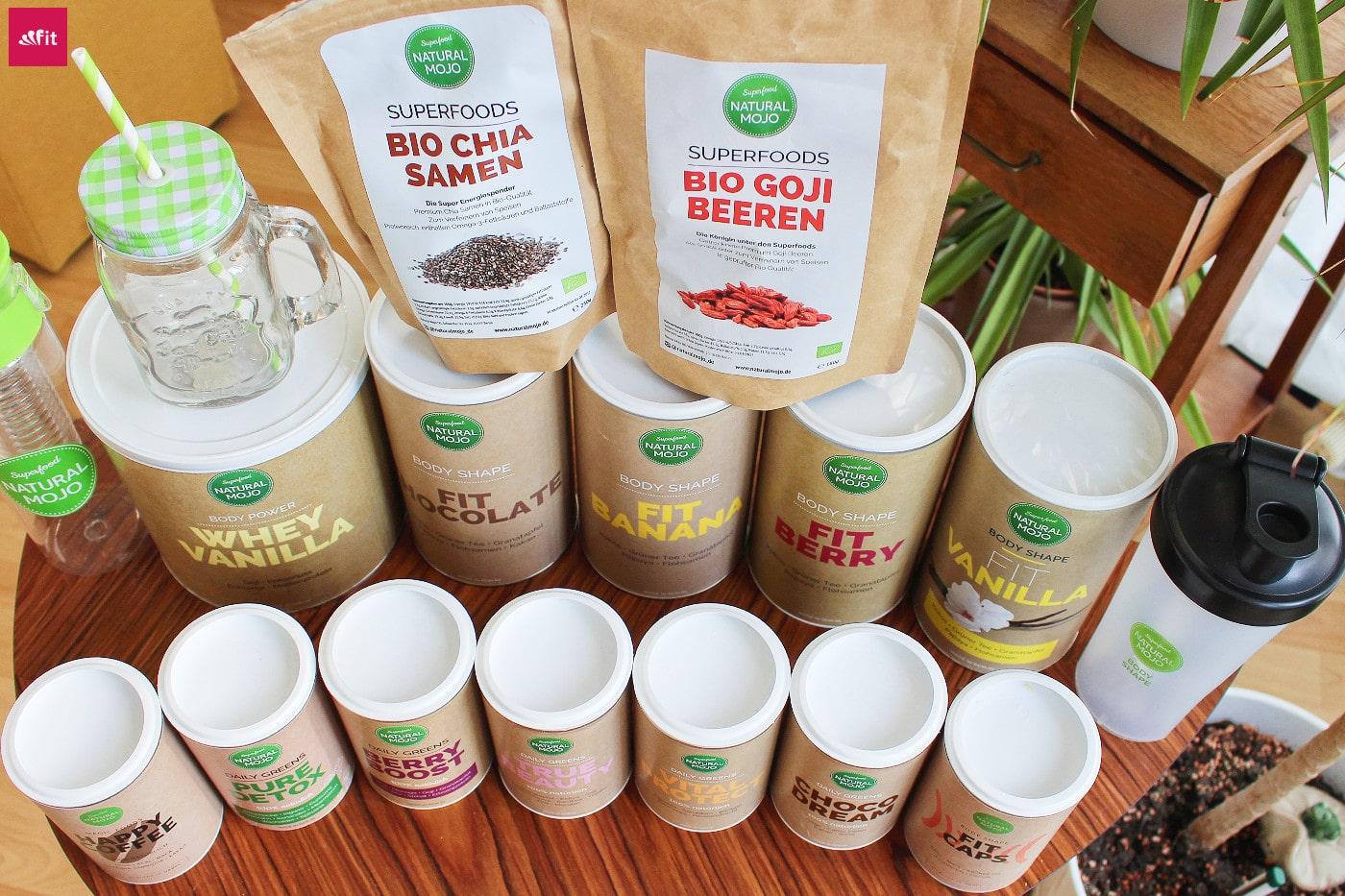 Natural Mojo Rabattcode und Erfahrung - ALLE Produkte: Daily Greens, Fit Shakes, Superfoods und Abnehm-Produkte. Test Video, Gutscheincode