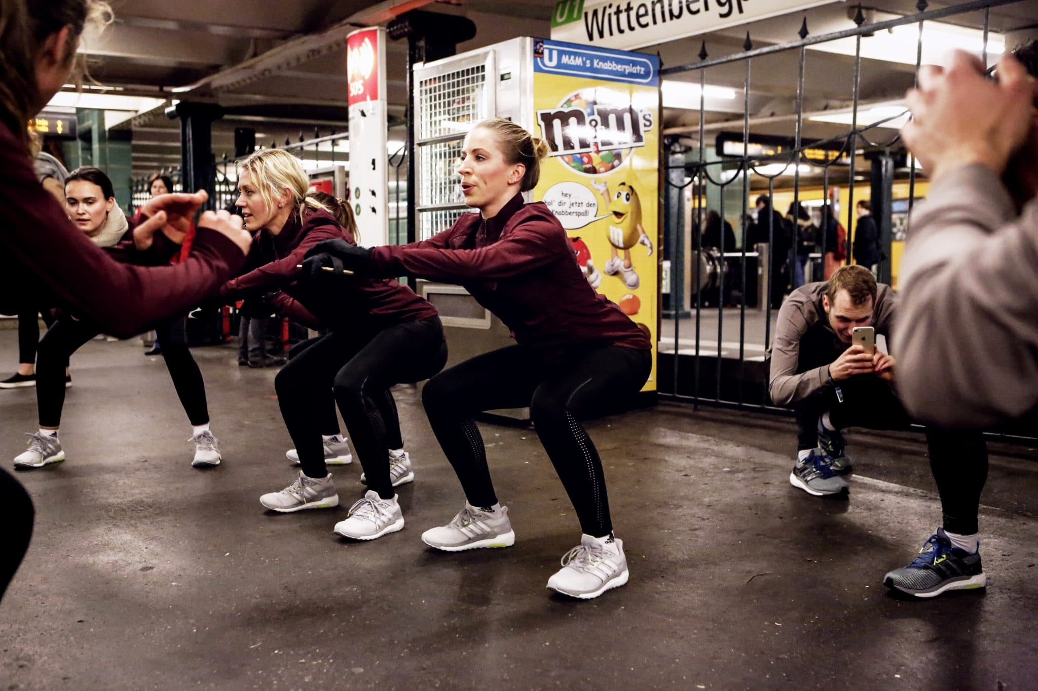 adidas HIIT Workout in Berlin am Wittenbergplatz