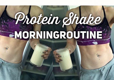 Proteinshake-morningroutine-fruehstueck