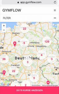 Gymflow Map Deutschland