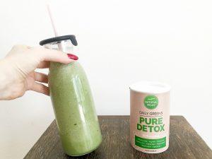 Natural Mojo Pure Detox Daily Greens Erfahrung und Anwendung (+15% Rabatt Gutscheincode)