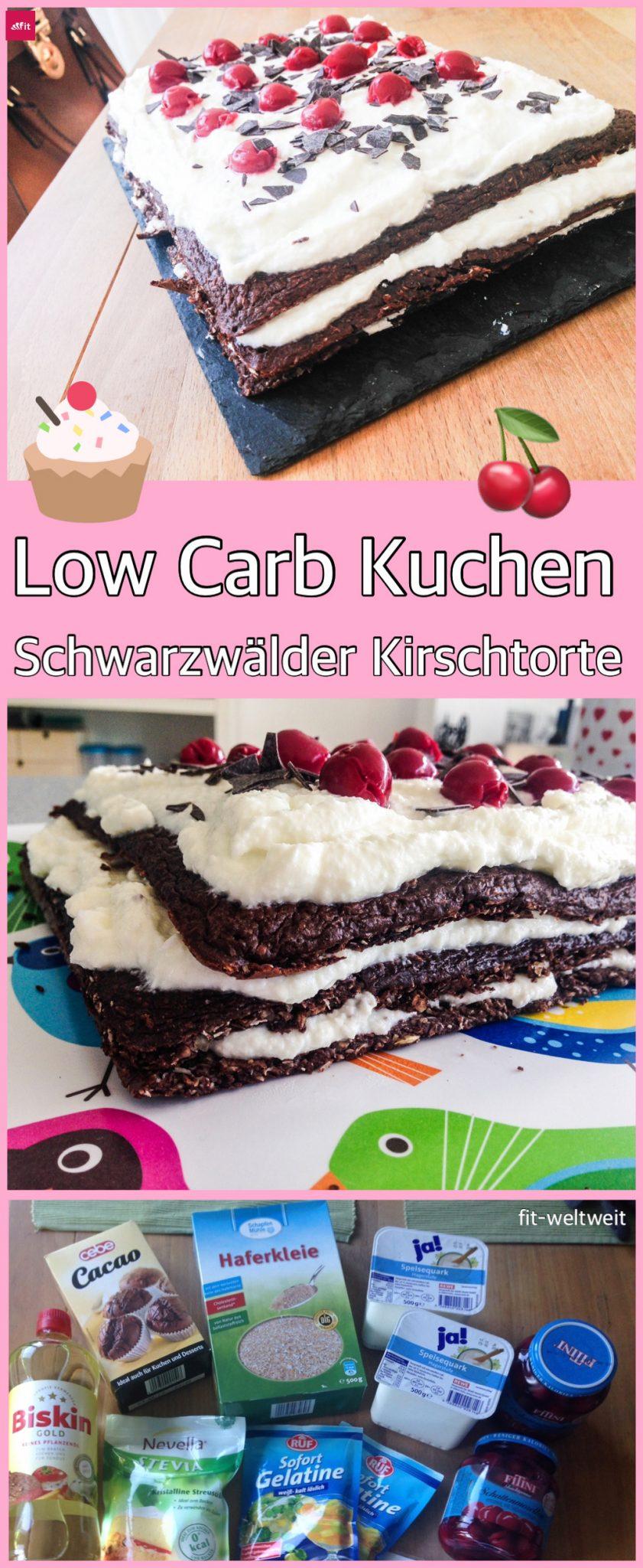 Schwarzwälder Kirschtorte: Lowcarb, Diät- und Stoffwechselkur geeignet - Rezept Low Carb Schwarzwälder Kirschtorte (Protein Lieferant und perfekt für Diäten) Sie istfettarm,kalorienarmund zuckerfrei. Für Kuchen oder Muffins