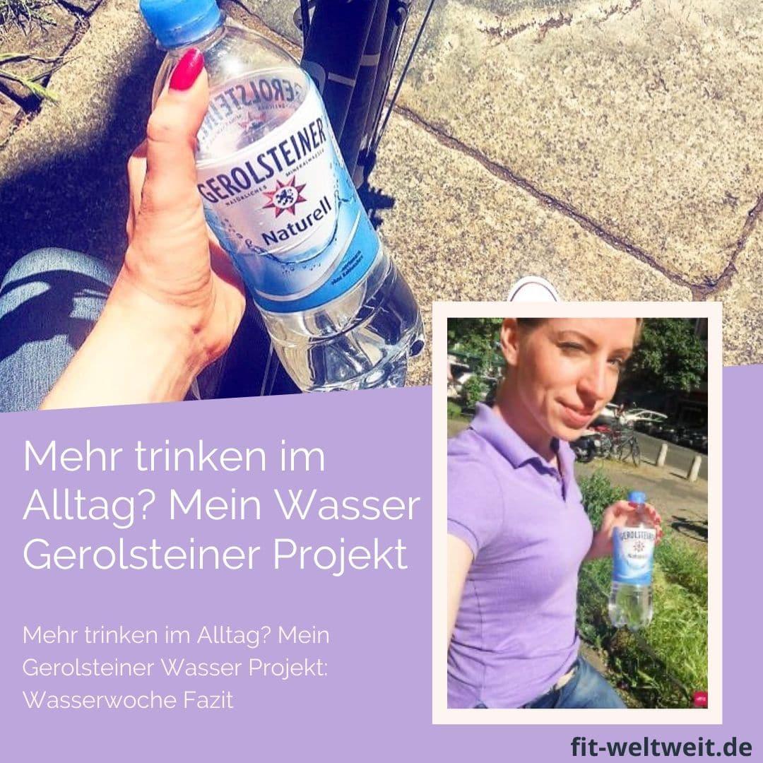 Das GerolsteinerProjekt: Wasserwoche(Anzeige) ist nun ein paar Tage her und hat - mehr als erwartet - deutliche Spuren hinterlassen in meinem Alltag. MeinTrink-Verhalten hat sich verbessert.