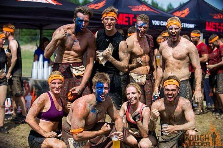 Mein Team beim Tough Mudder 2014 - es war der Hammer !! Danke.
