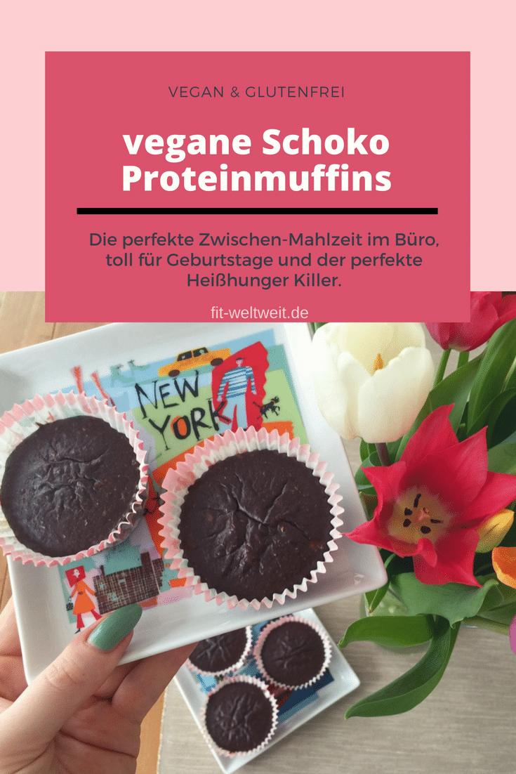 vegane Schoko Proteinmuffins Rezept (glutenfrei)