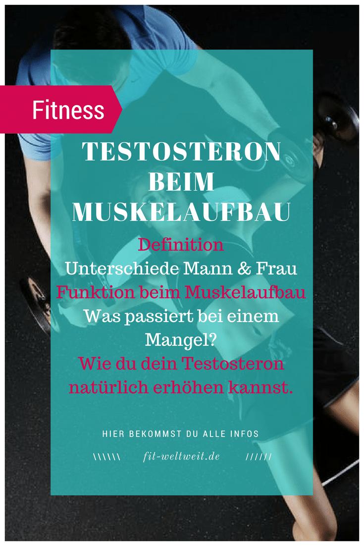 Muskelaufbau Testosteron erhöhen Mann Frau