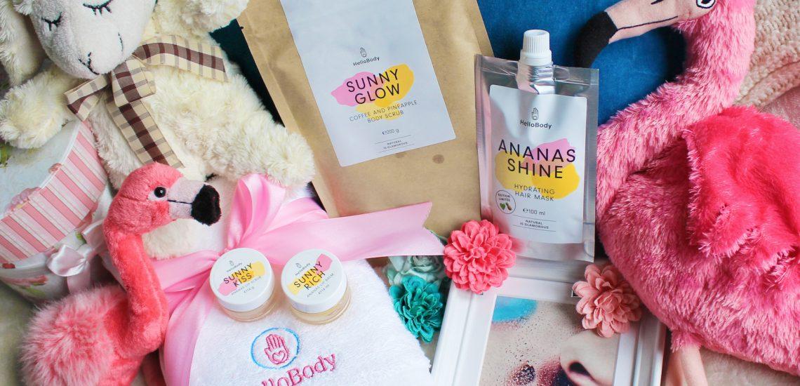"Erfahrung mit dem Hello Body All Sunny Set (Sunny Kiss, Sunny Rich, Ananas Shine, Sunny Scrub (20€ Rabatt mit ""Ananaslove"" = über 25%)"
