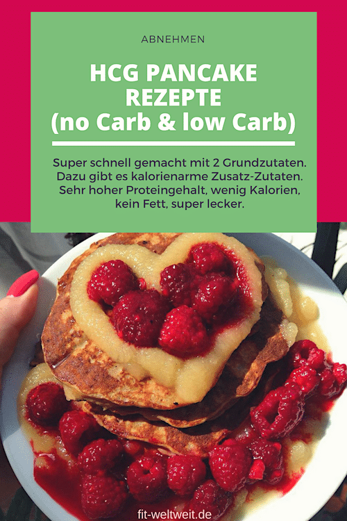 HCG PANCAKE REZEPTE (no Carb & low Carb) - HCG Protein Pancakes - perfekt, wenn du die 21 Tage Stoffwechselkur Diät (strenge Phase) machst, abnehmen möchtest oder ein Low Carb Essen, Pfannkuchen ...
