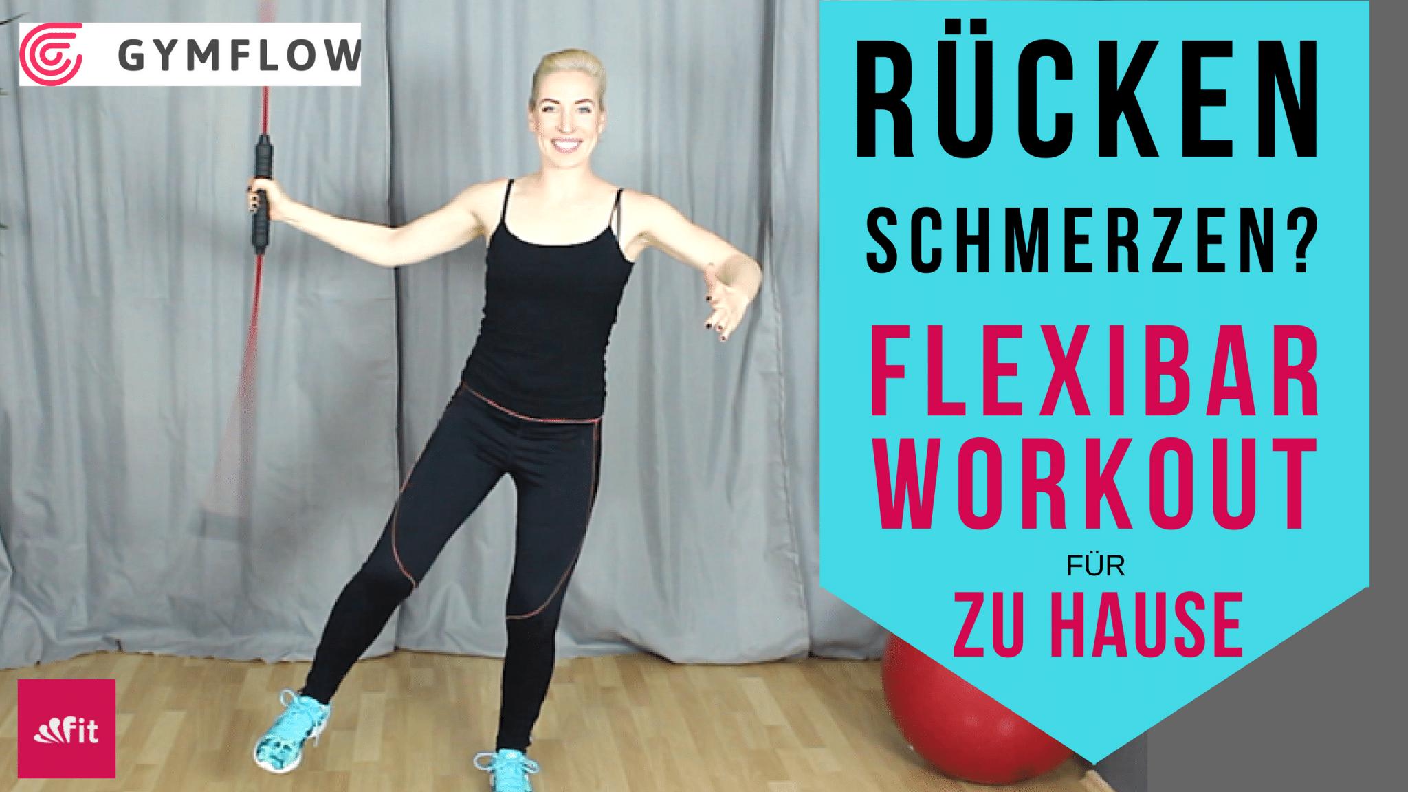 Flexi Bar Übungen und Wirkung   RückenFit mit Gymflow Video
