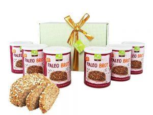 LOW CARB Geschenkideen zu Weihnachten und Geburtstag. Kohlenhydarm ins neue Jahr: Geschenkkorb und Geschenksets (auch für Diabetiker) Low Carb Küche: Bio Paleo Brot Backmischung | 6 er Pack | ergibt ein Brot mit Mandelmehl, Leinmehl, Chia-Samen | Paleo Geschenke für Weihnachten | low carb Brotbackmischung | hergestellt in Deutschland | hefefrei