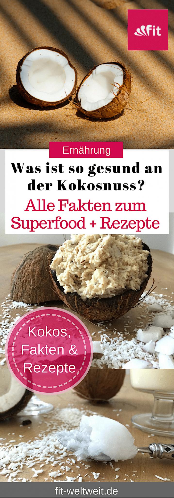 Superfood Kokos: Die Inhaltsstoffe und Nährwerte, Vitamine und wie du eine Kokosnuss öffnen kannst. Ist dKokos gesund oder ungesund? Wie du sie essen kannst mit passenden Rezepten... Die Verwendung von Kokosöl, #Kokos Rezepte und Brotaufstrich, Die Wirkung von Kokosöl, abnehmen mit Kokosöl, die Verwendung von #Kokosöl für die Haare. #Gesundheit #Superfood