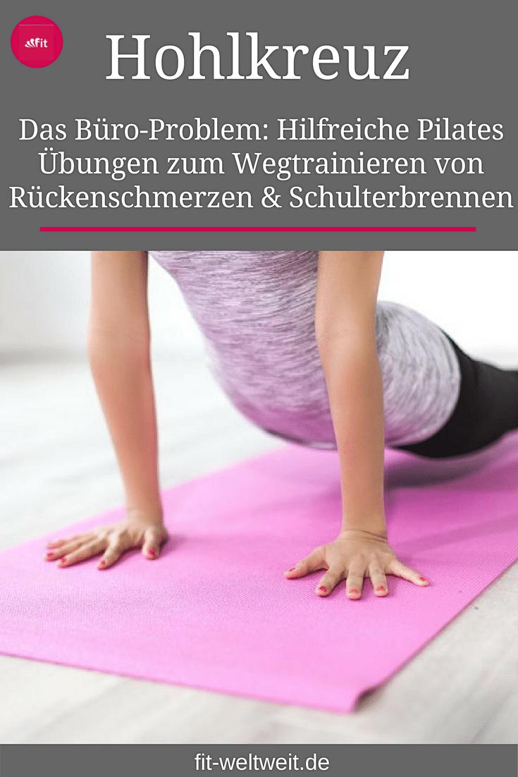 #RÜCKENSCHMERZEN #ÜBUNGEN Rückenschmerzen Übungen: Dieser Blogpost hat natürlich ein Kernthema, dass dir weiterhelfen soll: #Nackenschmerzen #Übungen, die deine äVerspannungen lösen. Mit Pilates gegen Hohlkreuz- (Hyperlordose) und #Rückenschmerzen + #Trainingsplan und Erklärungen. Du bekommst exakte Übungen und eine #Anleitung zum Dehnen, um deine Schmerzen zu verbessern/loszuwerden. Ursachen vom #Hohlkreuz und #Behandlung.