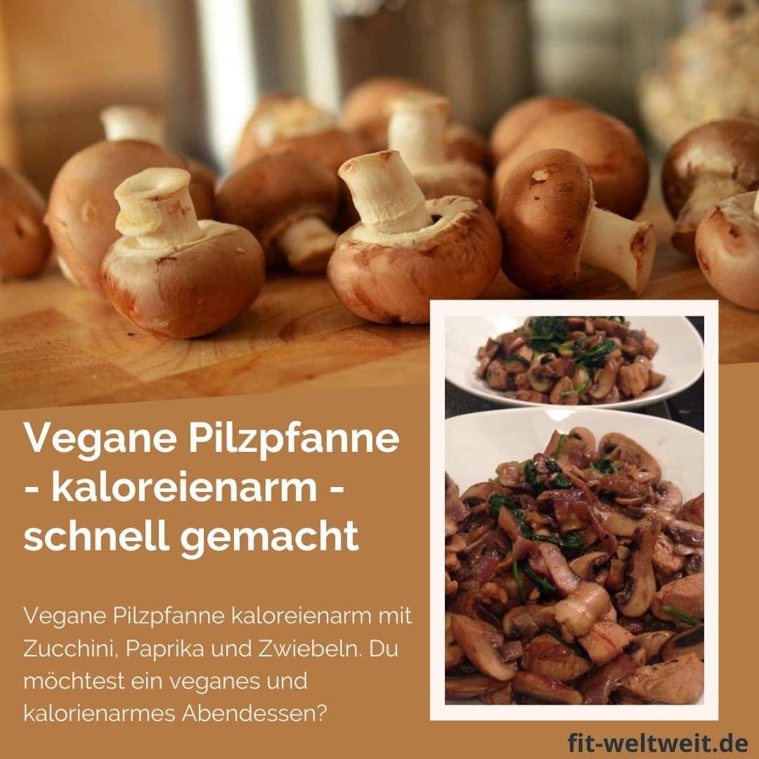 Rezept vegane Pilzpfanne (7:21 Tage Stoffwechselkur) Vegane Pilzpfanne: Vegane, kalorienarme Pilzpfanne mit Zucchini, Paprika und Zwiebeln. Veganes und kalorienarmes Abendessen? Diät geeignet, zum Abnehmen, zuckerfrei und super lecker. So viel essen, wie du magst auch während der Diät #vegan #lowcarb #Diät #abenehmen #Rezepte #Stoffwechselkur