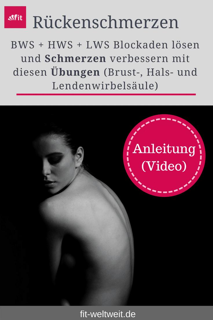 """BWS HWS LWS Schmerzen Übungen Rücken Blockaden lösen. Faszientraining für den gesamten Rücken. In Kooperation mit Liebscher & Bracht (Anzeige) bestehend aus verschiedenen Videos, um verschiedene Blockaden und Schmerzen zu lösen in den Bereichen der HWS (Halswirbelsäule), #BWS #HWS #LWS #Schmerzen #Übungen #Rücken #Blockaden lösen, BWS (Brustwirbelsäule) und der LWS (Lendenwirbelsäule) + 15% Rabatt mit """"fitweltwelt"""" Video ..."""