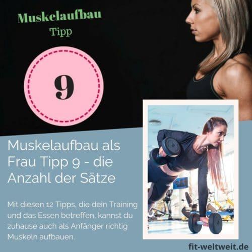 Muskelaufbau Tipp 9 Durchgänge und Wiederholungen: Um als #Frau Muskeln aufbauen zu können solltest du einiges beachten. 12 Tipps, die dein Training und das Essen betreffen, kannst du zuhause auch als Anfänger richtig Muskeln aufbauen. Zusätzlich habe ich für dich einen #Muskelaufbau #Trainingsplan (speziell für Frauen) mit effektiven HIIT Übungen. Natürlich gelten die Tipps auch für Fitnessstudio Gänger. Die Tipps betreffen den gesamten Körper (Bauch, Beine, Brust, Po, Arme und Rücken).
