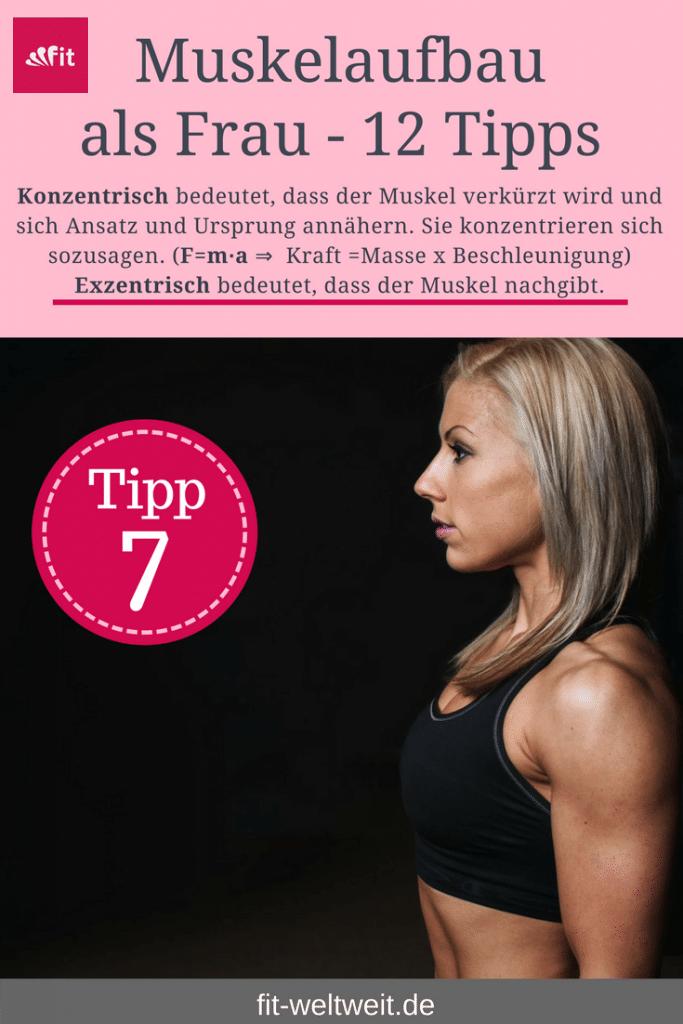 Tipp 7 Muskelwachstum. Um als #Frau Muskeln aufbauen zu können solltest du einige Tipps beachten. Mit diesen 12 Tipps, die dein Training und das Essen betreffen, kannst du zuhause auch als Anfänger richtig Muskeln aufbauen. Zusätzlich habe ich für dich einen #Muskelaufbau #Trainingsplan (speziell für Frauen) mit effektiven HIIT Übungen. Natürlich gelten die Tipps auch für Fitnessstudio Gänger. Die Tipps betreffen den gesamten Körper (Bauch, Beine, Brust, Po, Arme und Rücken).