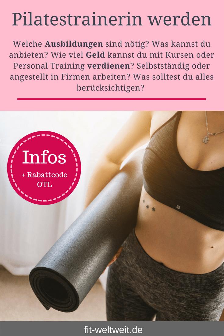 Pilates lernen: Welche Ausbildungen sind nötig? Was kannst du anbieten?Wie viel Geld kannst du mit Kursen oder Personal Trainingverdienen? Selbstständig oder angestelltin Firmenarbeiten? Was solltest du alles berücksichtigen?Mit welchem Gehalt und #Geld kannst du rechnen? Ich bin seit mehreren Jahren #Fitnesstrainerin und Ernährungsberaterin und gebe dir sehr ausführlich meine Erfahrungen wieder. #Ausbildung in#Berlin oder online.