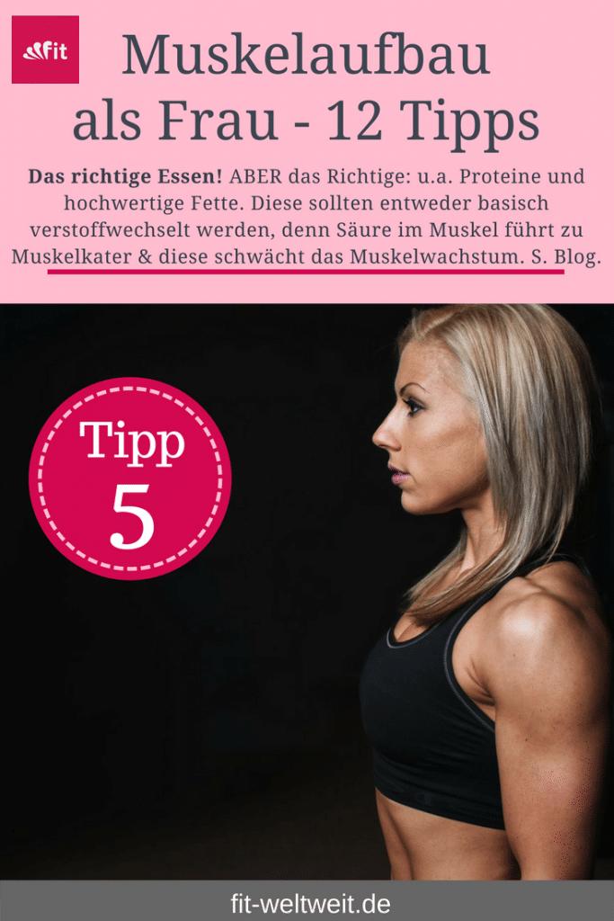 Tipp 5: Das richtige Essen. Um als #Frau Muskeln aufbauen zu können solltest du einige Tipps beachten. Mit diesen 12 Tipps, die dein Training und das Essen betreffen, kannst du zuhause auch als Anfänger richtig Muskeln aufbauen. Zusätzlich habe ich für dich einen #Muskelaufbau #Trainingsplan (speziell für Frauen) mit effektiven HIIT Übungen. Natürlich gelten die Tipps auch für Fitnessstudio Gänger. Die Tipps betreffen den gesamten Körper (Bauch, Beine, Brust, Po, Arme und Rücken).