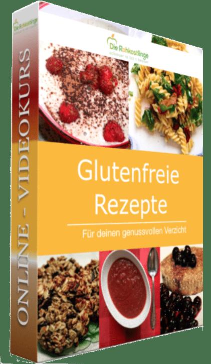 """Das Online Schulungsprogramm """"Glutenfrei Rezepte"""" ist das ideale Einsteigerprogramm für alle, die sich gerne glutenfrei ernähren wollen, aber noch nicht wissen wie die weizenfreie Küche funtioniert. Mit dem umfangreichen videobasiertem Schulungsprogramm erhalten die Teilnehmer über 140 glutenfreie Rezepte gebündel in 5 Rezeptbüchern als PDF inklusive Einkaufszettel für Veganer"""