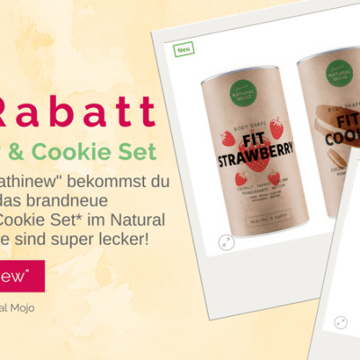 Natural Mojo Strawberry Cookie Set 40% Rabattcode JULI AKTION
