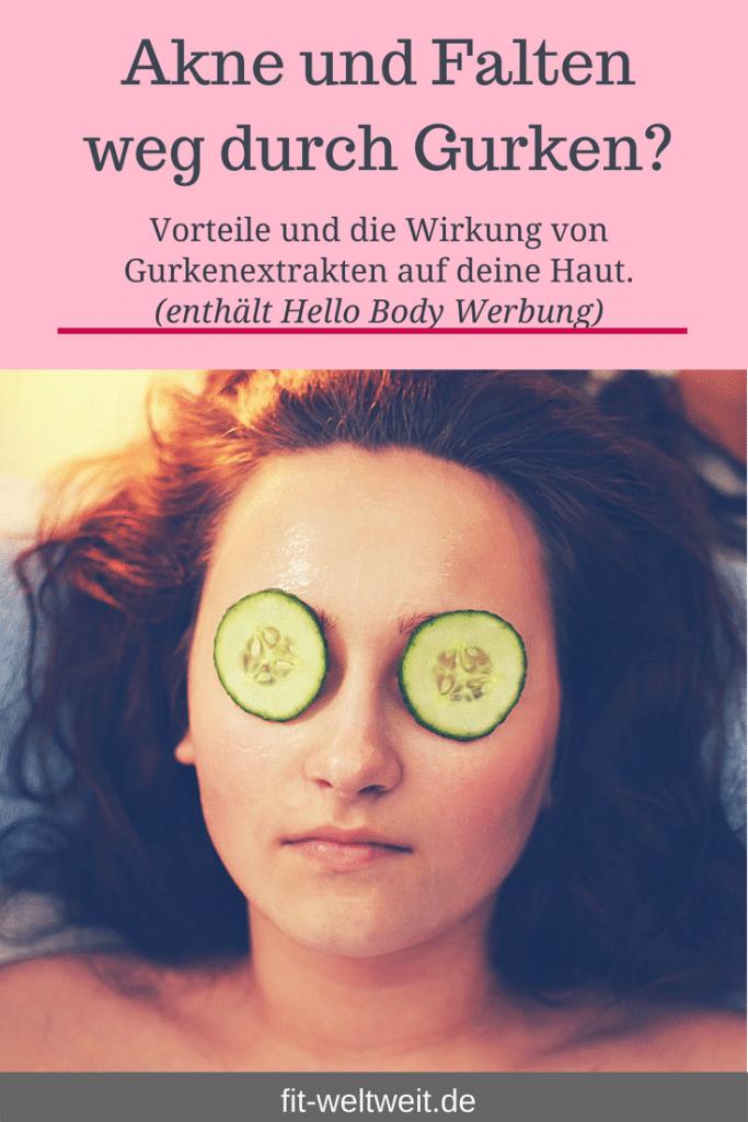 Weil ich ein absoluter Gurken-Fan bin, habe ich mich extrem über die #Cucumber -Neuerscheinung im Hello Body Store (Werbung) gefreut. #Gurken #Wirkung auf die #Gesundheit, das Gesicht und die Haut. #Gurkenmasken sind bekannt und in zahlreichen Beauty-Filmszenen liegen Gurkenscheiben auf den #Augen.Die Punkte beziehen sich auf die innere und äußere Anwendung:tun der Haut #Akne gut,helfen bei Diabetes,unterstützen das Gehirn, ...