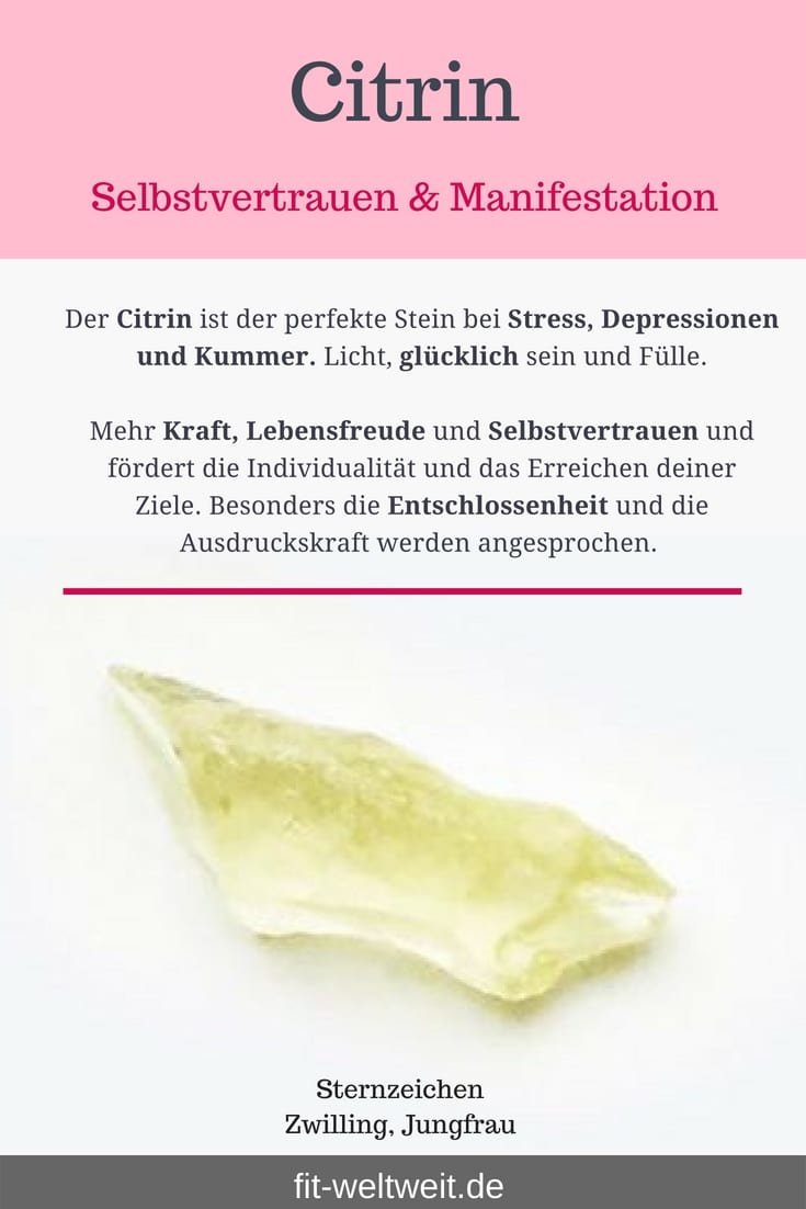 """#Citrin #Stein #Wirkung #Bedeutung Der Citrin ist der perfekte Stein bei Stress, Depressionen und Kummer. Licht, Glücklichen und Fülle. Mehr Kraft, Lebensfreude und Selbstvertrauen und fördert die Individualität und das Erreichen deiner Ziele. Besonders die Entschlossenheit und die Ausdruckskraft werden angesprochen. // 10% Rabatt mit """"fitweltweit"""" bei Pavon Berlin (Werbung) // #gemstones#gemstonejewelry #edelsteine #halbedelsteine #green #citrin#Wirkung #Stein"""