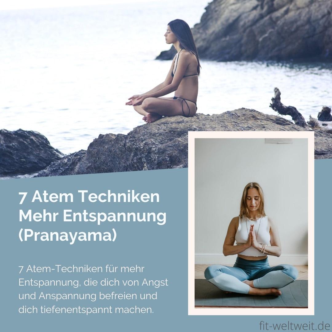 Ich zeige dir im Überblick 7 Atem-Techniken für mehr Entspannung, die dich von Angst und Anspannung befreien und dich tiefenentspannt machen. Genaue Atemübung-Anleitungen habe ich dir jeweils verlinkt. Besonders hilfreich sind die Atemtechniken #ATMEN #ATEM #YOGA