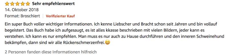 Bewertung Liebscher Bracht Deutschland hat Rücken Buch