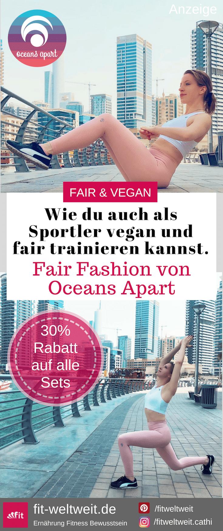 """#FAIRFASHION #VEGANFASHION #Fair #Fashion #OceansApart #vegan #veganwear #Leggings OCEANS APPART vegane Active Wear - Funktionskleidung. Nachhaltig produziert zu fairen Handelsbedingungen. Gutschein 2018: Auf den gesamten Shop20 % Rabatt mit dem Gutscheincode """"cathi20"""". 30 % Rabattauf alle Oceans Apart Sets mit dem Gutscheincode """"cathiset"""". WOW ! Und zu jeder Bestellung ab 80,00€ gibt es mit """"cathimoon"""" eine Moonlight Pants im Wert von 89,00€ gratis dazu !"""
