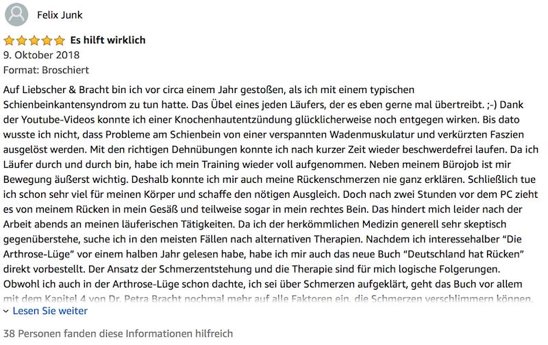 Liebscher Bracht Deutschland hat Rücken Buch Review