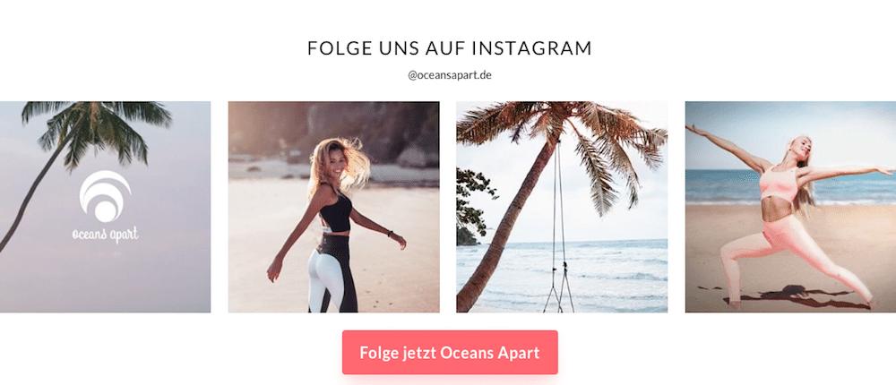 """OCEANS APART Vegan Fitness Wear. Extreme bequem, schneidet nicht ein und formt eine tolle Figur. 30% Rabatt bei Oceans Apart (Werbung) auf alle Sets mit dem Code """"cathiset""""."""