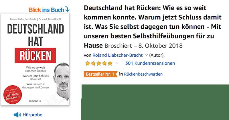 Deutschland hat Rücken Liebscher und Bracht Hörprobe Leseprobe