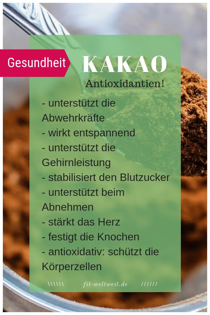 #KAKAO #WIRKUNG #SUPERFOOD #GESUNDHEIT #GESUND Kakao Superfood In den Ampullen von Supernaturals ist Kakao aus Ghana enthalten. Werte pro 100 g Brennwert: 337 kcal Eiweiß: 23 g Kohlenhydrate: 10 g (davon 2 g Zucker) Fett: 15 g Ballaststoffe: 35 g Wirkung von Kakaopulver: unterstützt die Abwehrkräfte wirkt entspannend unterstützt die Gehirnleistung stabilisiert den Blutzucker unterstützt beim Abnehmen stärkte das Herz festigt die Knochen antioxidativ: schützt die Körperzellen