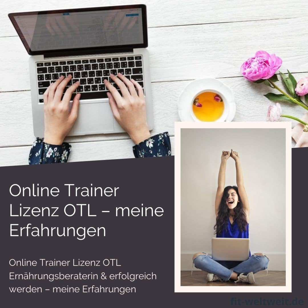 In diesem Artikel gehe ich auf die Ausbildung und Erfahrung bei Online Trainer Lizenz - #OTL (Werbung) als Ernährungsberaterin ein. Es gibt die #Erfahrungen zu meinen #Ausbildungen und was du generell in Zukunft machen kannst und beachten solltest, wenn du als #Ernährungsberaterin oder #Fitnesstrainerin arbeiten möchtest.