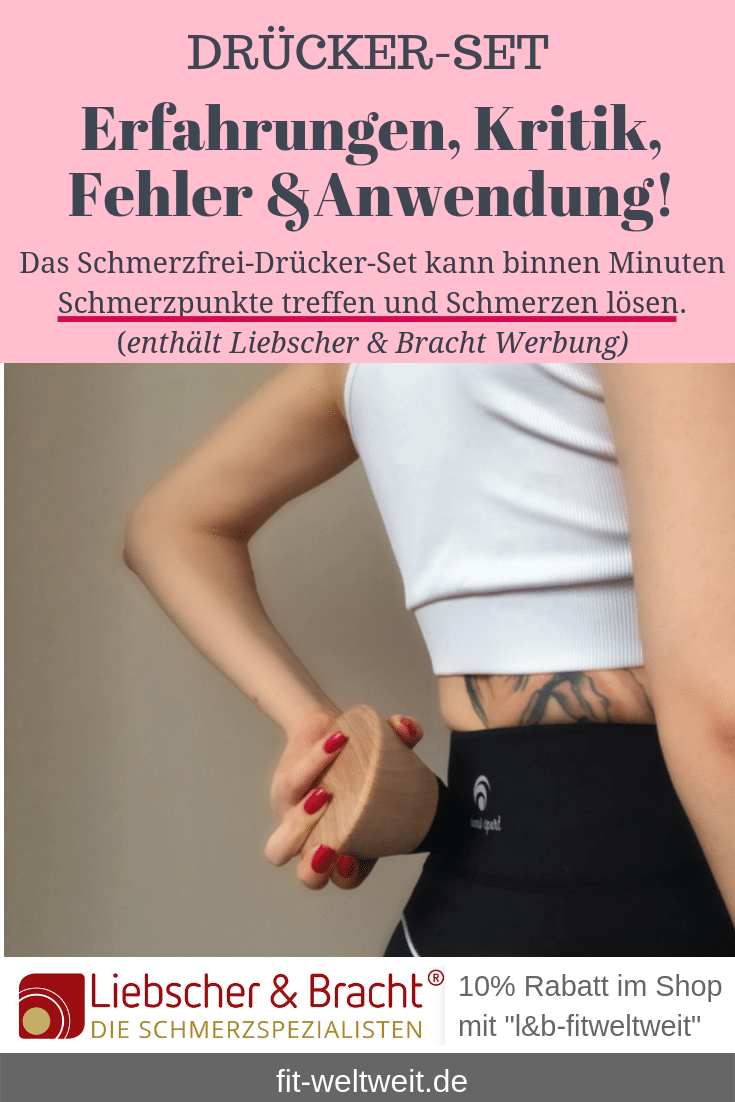 """Schmerzfrei Drücker Set von Liebscher und Bracht (Werbung) Buch """"Deutschland hat Rücken"""",Schmerzfrei-Drücker-Set und dieLight-Osteopressur Technik (selber anwendbar). Auf Amazon + Shop von Liebscher und Bracht gibt es das Set. #Wirkung, Anwendung und Erfahrung,spezielle Drücker - #Übungen, um #Rückenschmerzen zu verbessern. Roland Liebscher-Bracht,Schmerzpunkte, Schmerzen lösen."""