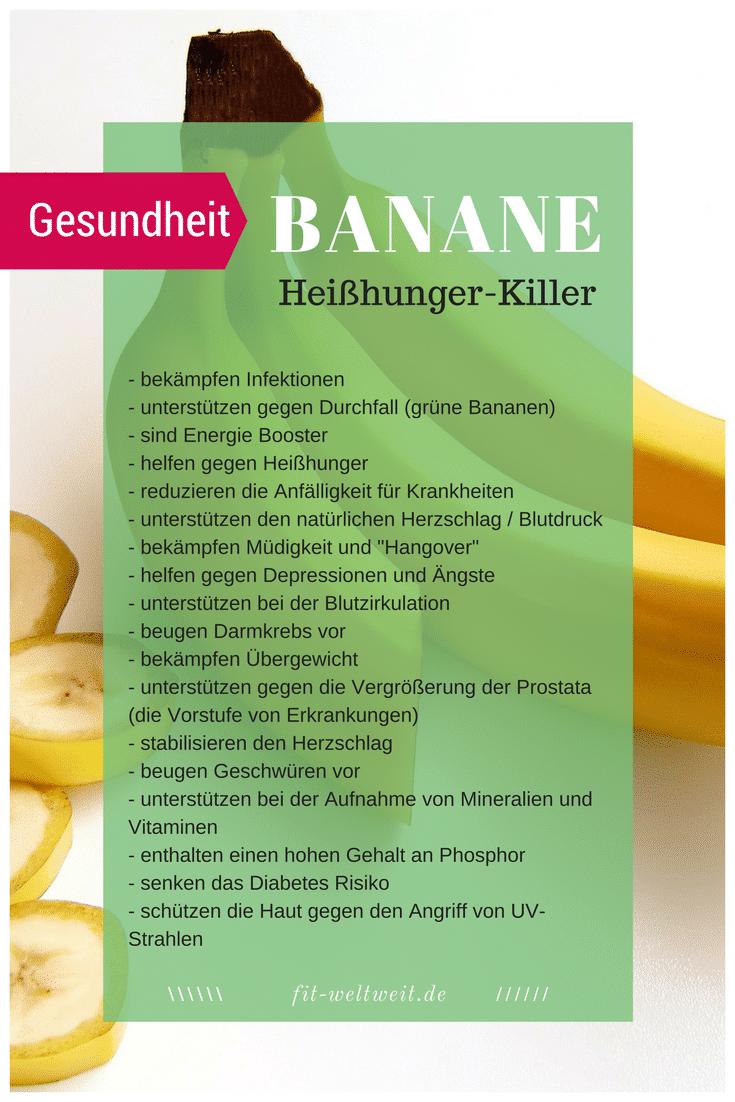 #BANANE #REZEPTE #GESUNDHEIT #ABNEHMEN #WIRKUNG #BANANEN Die Wirkung der Banane auf deine Gesundheit, beim Fitness und kann sie Heißhunger stillen? Mit Bananen abnehmen? Das Bananen Superfood! Blutzuckerspiegel konstant halten mit Bananen? Depressionen und Ängst vorbeugen durch Bananen? Krämpfe vermeiden mit Bananen? + leckere Bananen Rezepte, die du schnell und einfach nachmachen kannst (Smoothies, backen oder auch selbstgerechtes Eis) Alle Tipps aus meiner Coaching Praxis. ... siehe Blog.