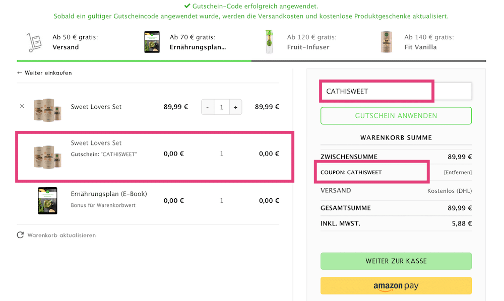 """Natural Mojo Code und Rabatt Gutscheine 2019 (Werbung):20 % Rabattauf den gesamten Natural Mojo Shop mit dem Gutscheincode """"FITWELTWEIT20""""30 % Rabattauf alle Sets beiNatural Mojo mit dem Gutscheincode """"FITWELTWEIT20""""50 % Rabatt (2 für 1)auf dieSkin Routine Set mit""""CATHIROUTINE"""".50 % Rabatt (2 für 1)auf dasSweet Lover Set mit""""CATHISWEET"""".Alle Infos zu den Natural Mojo Rabattcodes erhältst zu hier."""