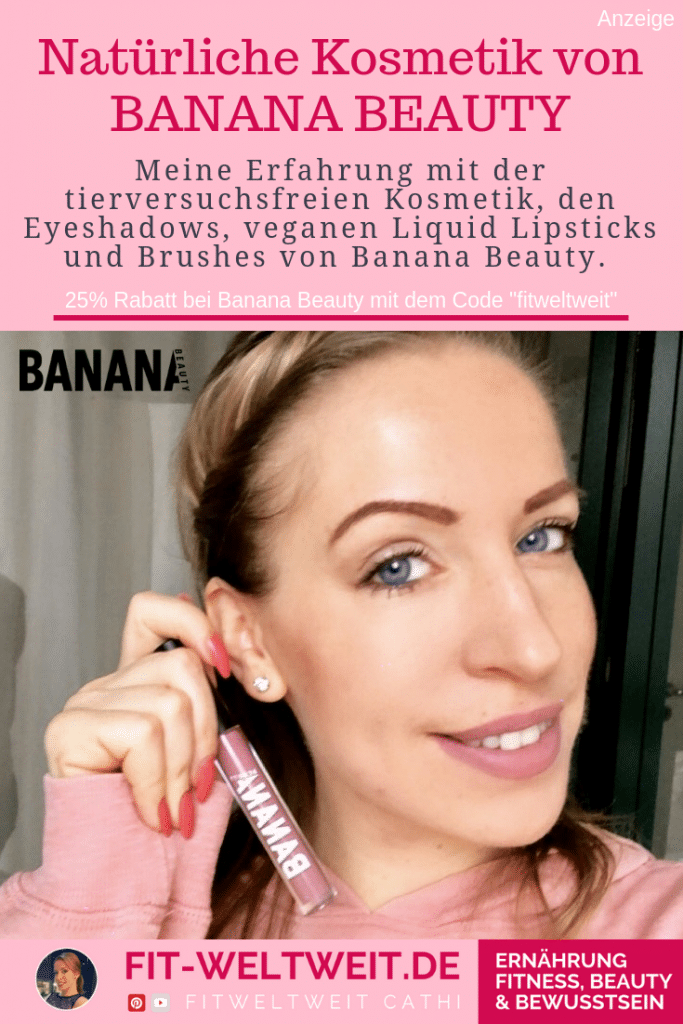 #MAKEUP für blaue #AUGEN im Alltag. Welche Farben. Ich habe die Eyeshadow Palette von Banana Beauty (Werbung) von Instagram getestet, vegane Lipsticks und Brushes und tolle Lidschatten Farben (Glitzer, Braun, silber) +25% Rabatt Code